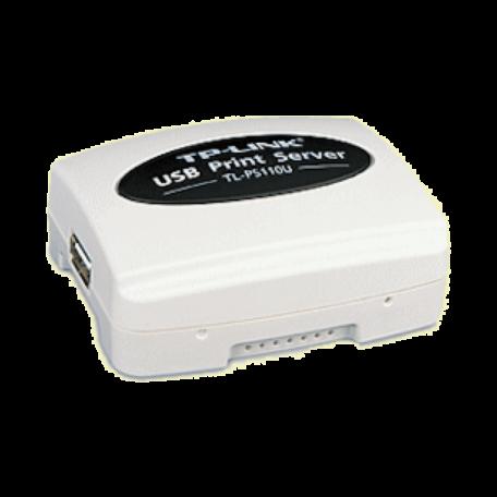 TP-LINK TL-PS110U Single USB2.0 Port Fast Eth. 10/100Mb printserver