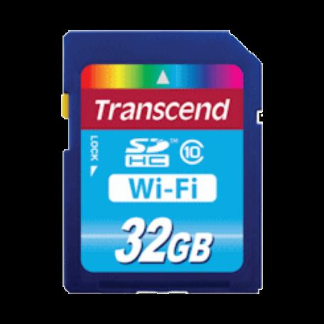 Transcend TS32GWSDHC10 32GB SDHC Card Class 10 + WiFi 802.11b/g/n