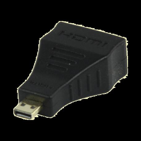 AWM VC-017G HDMI type A naar HDMI micro verloop (19-pins) F-M