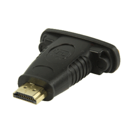 Valueline VGVP34910B HDMI Male <> DVI-I Female adapter verguld