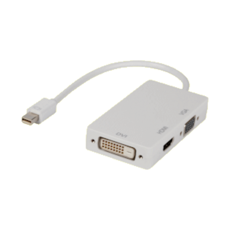 Valueline VLMP37465W0.20 Mini DP naar HDMI/VGA/DVI-D verloop (20cm)