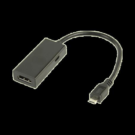 Valueline VLMP39000B0.20 MHL kabel-adapter voor tablet/mobiele telefoon