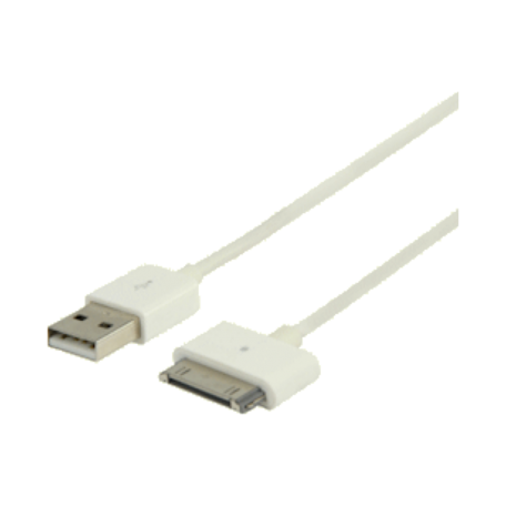 Valueline VLMP39100W2.00 Sync&Charge cable iPad/iPhone/iPod (2M USB, wit)