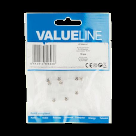 Valueline VLTP90913T 10x RJ-10 stekker voor telefoniekabel