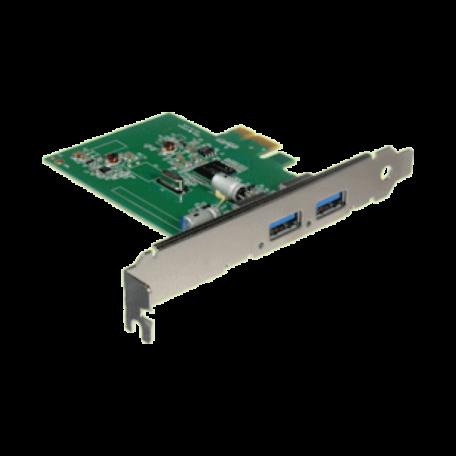 OEM PCIe-USB3-2P-LP PCI-Express x1 USB3.0 controller (2-poorts, FH+LP)