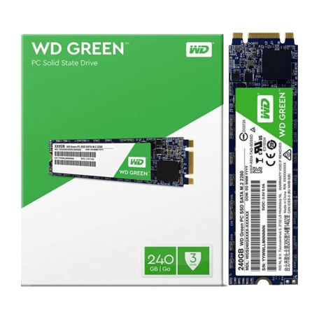 Western Digital WDS240G2G0B 240GB WD Green Solid State Drive (M.2 2280 6Gb/s, 22×80mm, 545/465MBps)