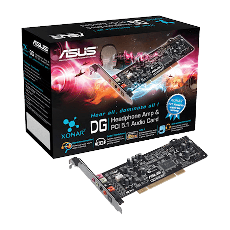 Asus 90-YAA0K0-0UAN0BZ Xonar DG PCI 5.1 Sound Card & Headphone Amplifier