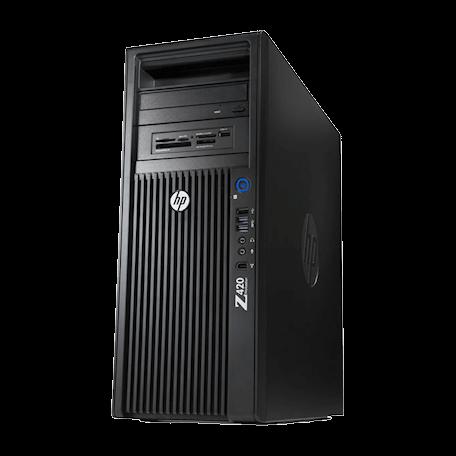 HP Z420 Workstation CMT E5-1620 v2 4-core, 12GB RAM/240GB SSD+1TB HD, DVDRW, Quadro K600, Win 10 Pro